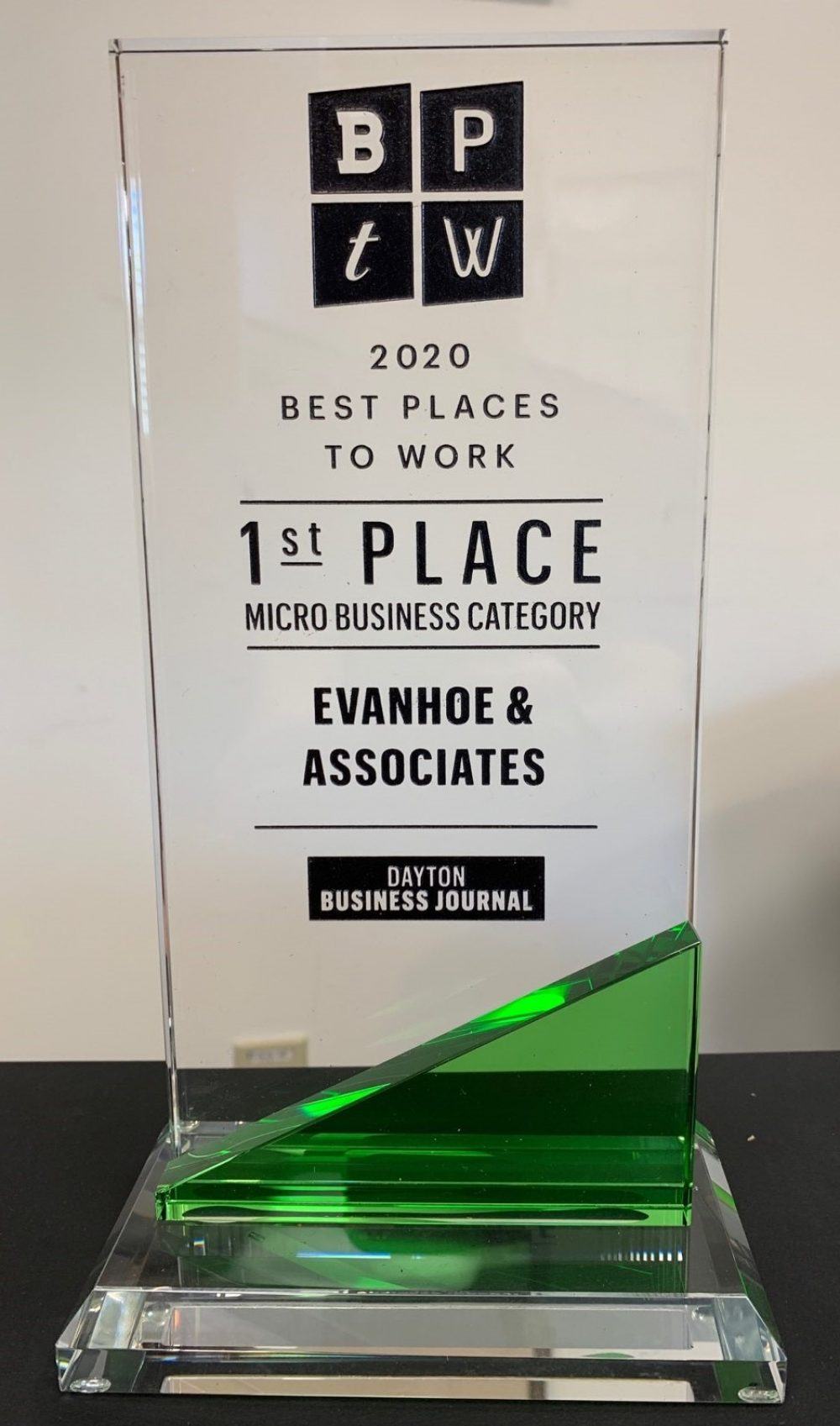 Evanhoe & Associates Best Places to Work First Place Award